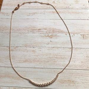 Henri Bendel Rose Gold Bar Necklace